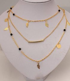 4819501b8 Made by Hand. Delicate Necklace NO HARMFUL LEAD..gold plated over zinc alloy