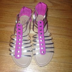 Gladiator sandals Pink and gold gladiator sandals Yoki Shoes Sandals
