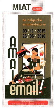 """Brochure van de tentoonstelling """"Amai email !"""" in het MIAT, in Gent."""