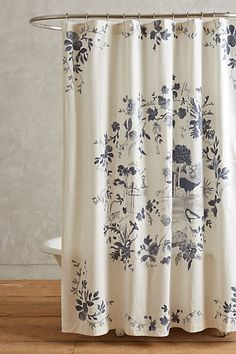 Kojani Sketch Shower Curtain #anthroregistry