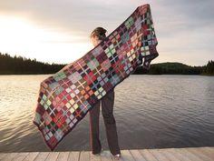 Love this wrap/shawl - Sofia Wrap designed by Kaffe Fassett. This took 2460 yrds of Rowan Kidslik Aura.... just lovely!!
