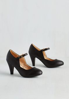 Versatile, Chorus, Bridge Heel in Black. Just as structure and inspiration are critical for your song writing, these black Mary Jane heels are essential for your fabulously fashionable style! #black #modcloth