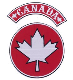 Thin blue line canada subdued flag canadian police sticker decal canada flag red and white center and top rocker iron on patch for biker vest sciox Choice Image