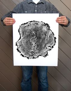 Wood stump print