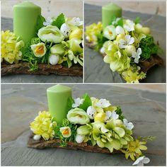 Artificial Floral Arrangements, Beautiful Flower Arrangements, Diy Easter Decorations, Table Decorations, Christmas Advent Wreath, Easter Flowers, Funeral Flowers, Candle Centerpieces, Arte Floral