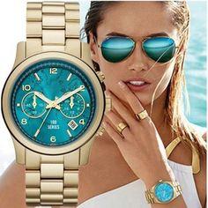 Hot marca de luxo moda Michael relógios mulheres relógio de pulso de quartzo das senhoras korses assista relógio Montre Femme Reloj Mujer