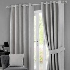 Solar Grey Blackout Eyelet Curtains