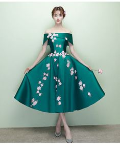 6127245ef0 Buy Rosita Floral Embroidered Off-Shoulder Midi Cocktail Dress