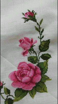 The most beautiful cross-stitch pattern - Knitting, Crochet Love Cross Stitch Letters, Cross Stitch Rose, Cross Stitch Borders, Cross Stitch Samplers, Modern Cross Stitch, Cross Stitch Flowers, Cross Stitch Charts, Cross Stitching, Cross Stitch Embroidery