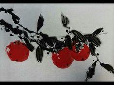 Korean Brush Painting - (2) Persimmon (소현의 감 그리기) - YouTube