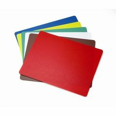 6 Pack Cutting Mats by Tablecraft. $26.24. FCB1218A-1 Features: -Cutting mats.-1.4 mm thick polyethylene.-Lightweight, flexible, and easy to clean.-Dishwasher safe. Includes: -Includes red (raw meat), brown (cooked meat), white (dairy), green (fruit and vegetables), yellow (poultry), and blue (fish). Color/Finish: -Color coded system reduces the risk of cross- contamination.