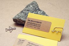Danni always has such great and creative ideas for DIY business cards. // via Oh Hello Friend