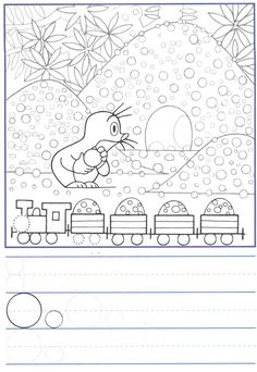 Výsledek obrázku pro how to draw krtek Motor Activities, Fine Motor Skills, Coloring Pages For Kids, Worksheets, Free Printables, Origami, Projects To Try, School, Cartoon