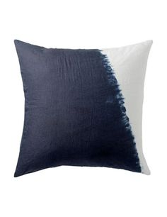 Toast  LINEN DIP DYE CUSHION  £25 - £59  We're sorry to say that we have experienced a dye problem with this garment. One of the drawbacks of using small scale production is that occasionally things do not go according to plan. Our hand-dyed indigo has proven less colourfast than we find acceptable and regrettably we have had to withdraw this product from sale.