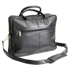 Royce Leather Colombian Vaquetta Cowhide Briefcase Colombian Vaquetta Cowhide Leather 693-BLK-VL