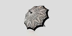 Grace ombrelle d'exception Noir, Blanc