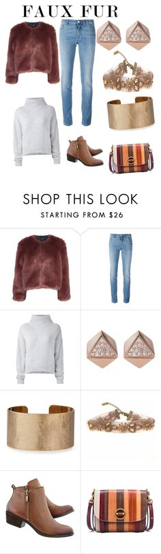"""""""Faux fur"""" by mcounce ❤ liked on Polyvore featuring Stine Goya, Givenchy, Le Kasha, FOSSIL, Panacea and Tory Burch"""