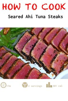 Seared Ahi Tuna Steaks, cooked it too long, used too much salt, cayenne pepper was a good amount Seared Tuna Steak Recipe, Grilled Tuna Steaks, Ahi Tuna Dipping Sauce Recipe, Ahi Tuna Marinade, Recipe Marinade, Soy Sauce, Ahi Recipes, Easy Steak Recipes, Fresh Tuna Steak Recipes