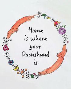 https://www.etsy.com/listing/264433213/dachshund-border-quote-print-if-its-not?ref=listing-shop-header-2  #dachshund Art Print
