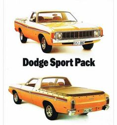 1975 VK Dodge Ute (Chrysler Australia used the Dodge brand for its 'workmen's' Valiant Utes) Mini Trucks, Old Trucks, Chrysler Valiant, Pickup Car, Aussie Muscle Cars, Van Car, Australian Cars, Chrysler Cars, Car Brochure