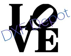 Love Sign .dxf format.  CNC Cut File  Vector Art  Clip by DXFdepot, $2.00