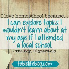 101 Reasons We Love Homeschool
