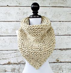 Instant Download Knitting Pattern PDF Knit Cowl by pixiebell