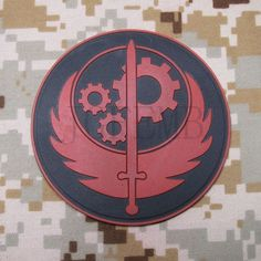 Fallout Brotherhood of Steel Airsoft Morale 3D PVC Patch in Collectables, Badges/Patches, Patches | eBay!