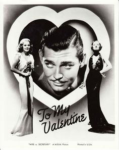 "Clark Gable, Jean Harlow, and Myrna Loy ""Wife vs Secretary"""