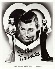 """Clark Gable, Jean Harlow, and Myrna Loy """"Wife vs Secretary"""""""