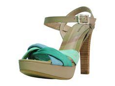 sandália meia pata verde - daleph