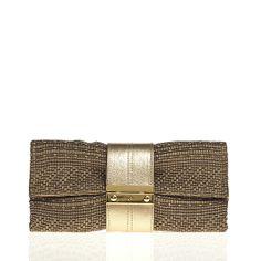 Am liking this Nite Cap Foldover Clutch (Khaki Raffia) @joannamaxham via @Saleservant
