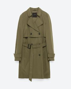 Image 8 of SHORT TRENCH COAT from Zara