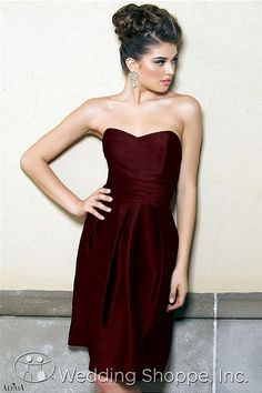 Alexia Designs Bridesmaid Dress 4130 // Burgundy bridesmaid dresses from the Wedding Shoppe!  this is exactly the color I want!!