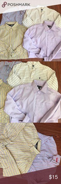 Boys size 14/16 button down shirts Ralph Lauren Boys bundle size 14/16 Arizona George Ralph Lauren.  All are in excellent condition                                       L6 Polo by Ralph Lauren Shirts & Tops Button Down Shirts