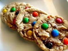 The best and softest M&M Cookies ever. Definitely a keeper recipe! #recipe #cookie