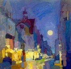 "Larisa Aukon, Moonwalk by Larisa Aukon Oil ~ 18"" x 18"""