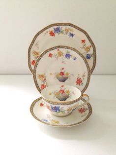Antique French Limoges Theodore Haviland France Sanga Pattern ...