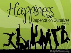 """""""Happiness depends on ourselves."""" -Aristotle inspirational desktop quote wallpaper (click to download)"""