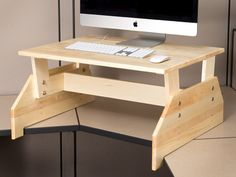 "(Maybe a good solution for a regular desk?) / 30""x22"" Adjustable Standing Desk Topper Converter"