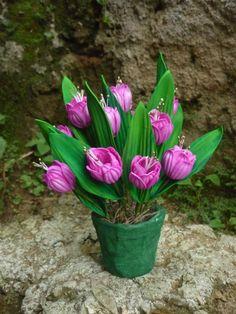 Mini vaso tulipas 4 pontas.