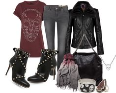 """Skulls are very fashionable this fall!"" by goldieazcmd on Polyvore"