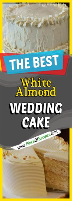 White Almond Wedding Cake - Pinch Of Recipes Healthy Recipes Every day