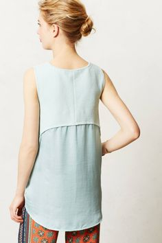 Sania Tank - anthropologie.com [two textures, one layered over the gathered second piece]