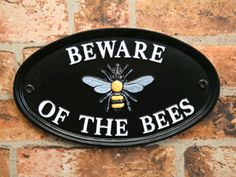 Oval House Sign x Cnc Projects, English House, Bee Theme, Metal Casting, Home Signs, Bee Keeping, Traditional House, Metal Signs, Honeycomb