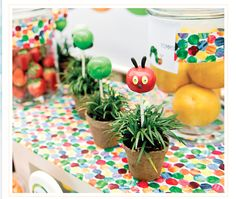 The Very Hungry Caterpillar: fruit, veggie table