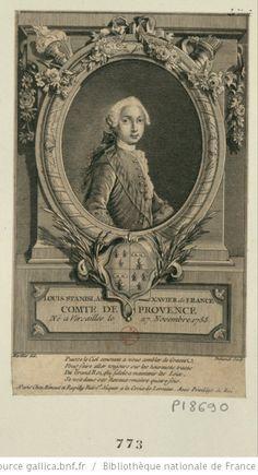 Louis-Stanislas-Xavier de France, comte de Provence, future Louis XVIII