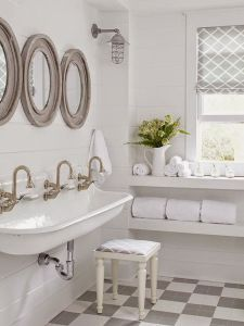 Loving this tripe sink #bathroom. What do you guys think? www.remodelworks.com