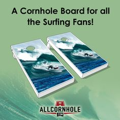 To all you surfing fans!  Check out our custom Cornhole Boards today!