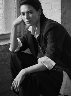 Lena Headey in a suit